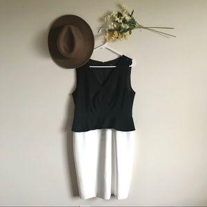 Ann Taylor Colorblock Peplum Sheath Dress